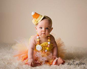 Halloween Costume -  Tutu Cute  Candy Corn Costume - Girl Toddler Baby Infant Newborn Halloween Costume  sc 1 st  Pinterest & Halloween Costume -