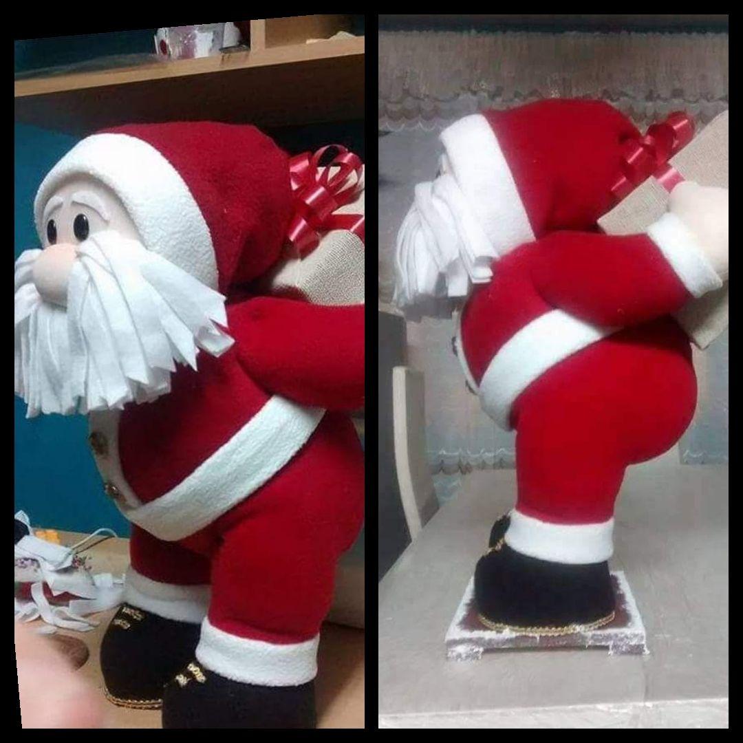 A Rena Mais Famosa Do Papai Noel boneco do papai noel de feltro com molde para imprimir