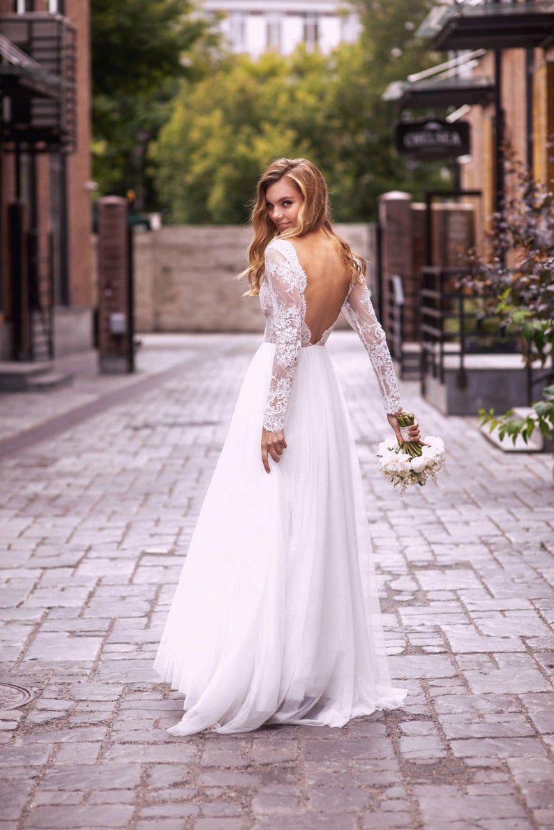 A Line Wedding Dress A Line Style Simple Wedding Dress Simple Style Romantic Dress Romantic Bridal Gown Elegant Wedding In 2021 Etsy Wedding Dress Wedding Dresses Simple Farm Wedding Dresses [ 1190 x 794 Pixel ]