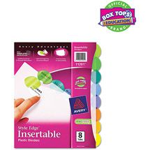 Walmart: Avery Style Edge Insertable Plastic Dividers with 8 Tabs