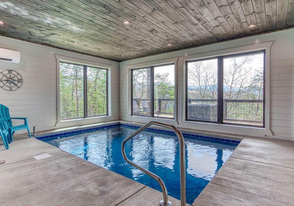 Pigeon Forge Cabin Rental Skinny Dippin 261 2 Bedroom Cabin Indoor Swimming Indoor Swimming Pools