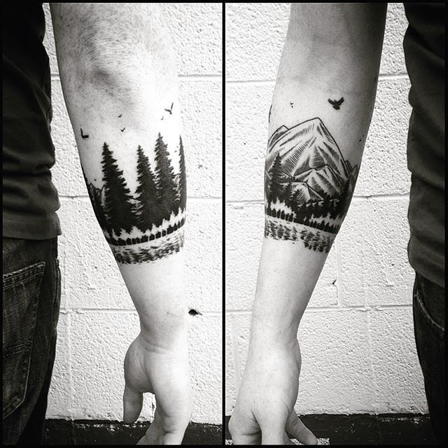 Mountain Armband Tattoo Google Search Tattoo Arm Band Tattoo