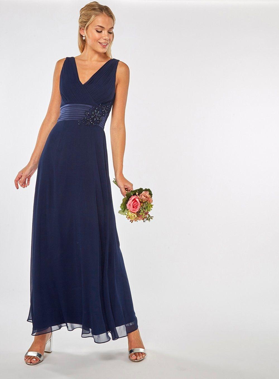 f6d59f006499f Maxi-robe bleu marine Aria Showcase - Dorothy Perkins France ...