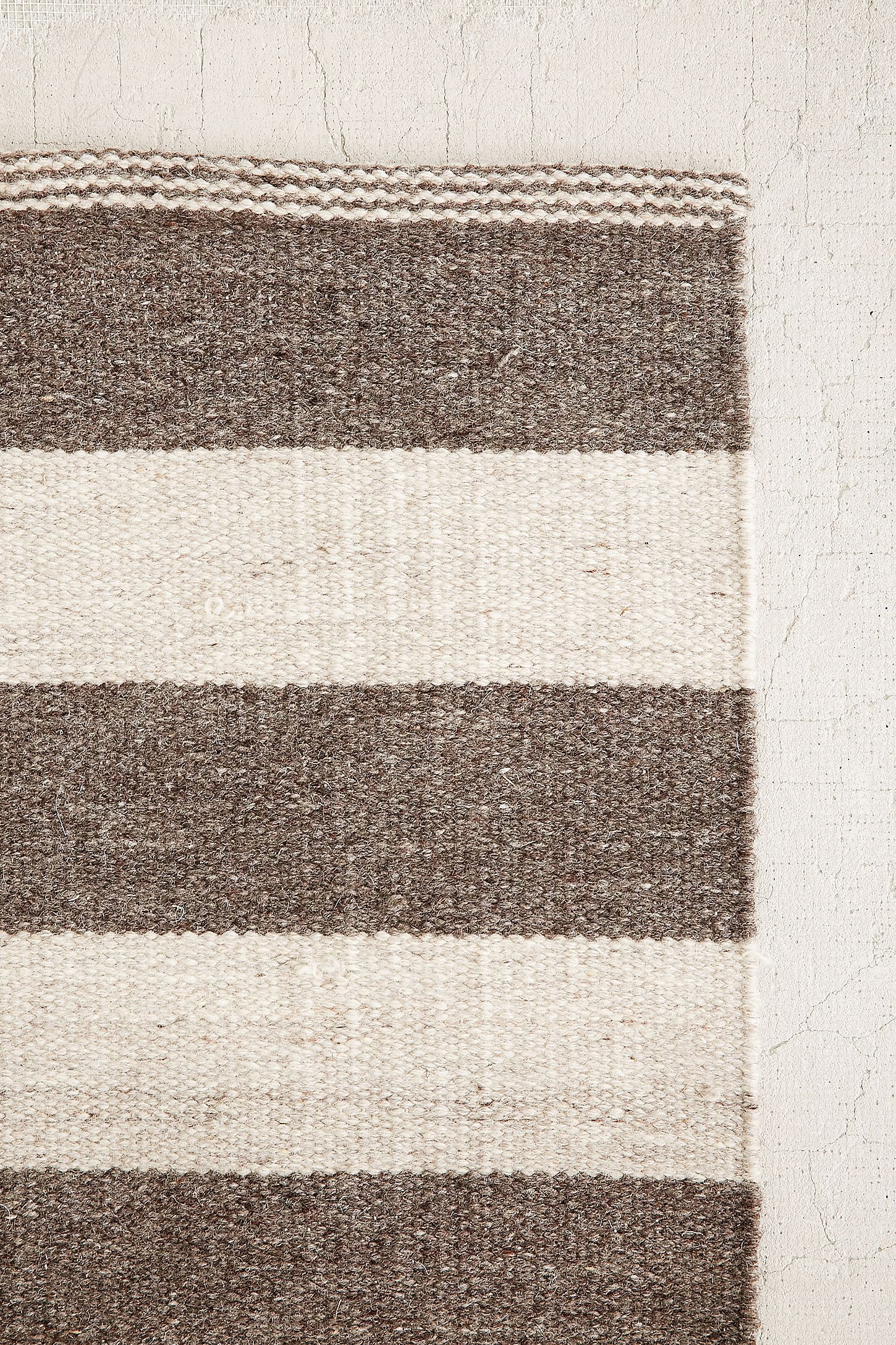 Slide View 3 Abbey Offset Stripes Wool Rug Rugs Wool Rug
