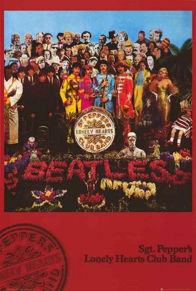 The Beatles Sgt Peppers Album Cover Poster 24x36 In 2018