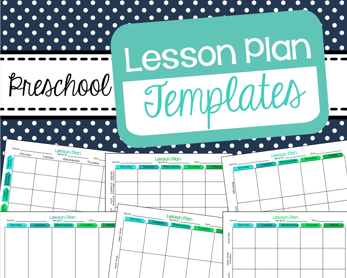 free preschool lesson plan templates