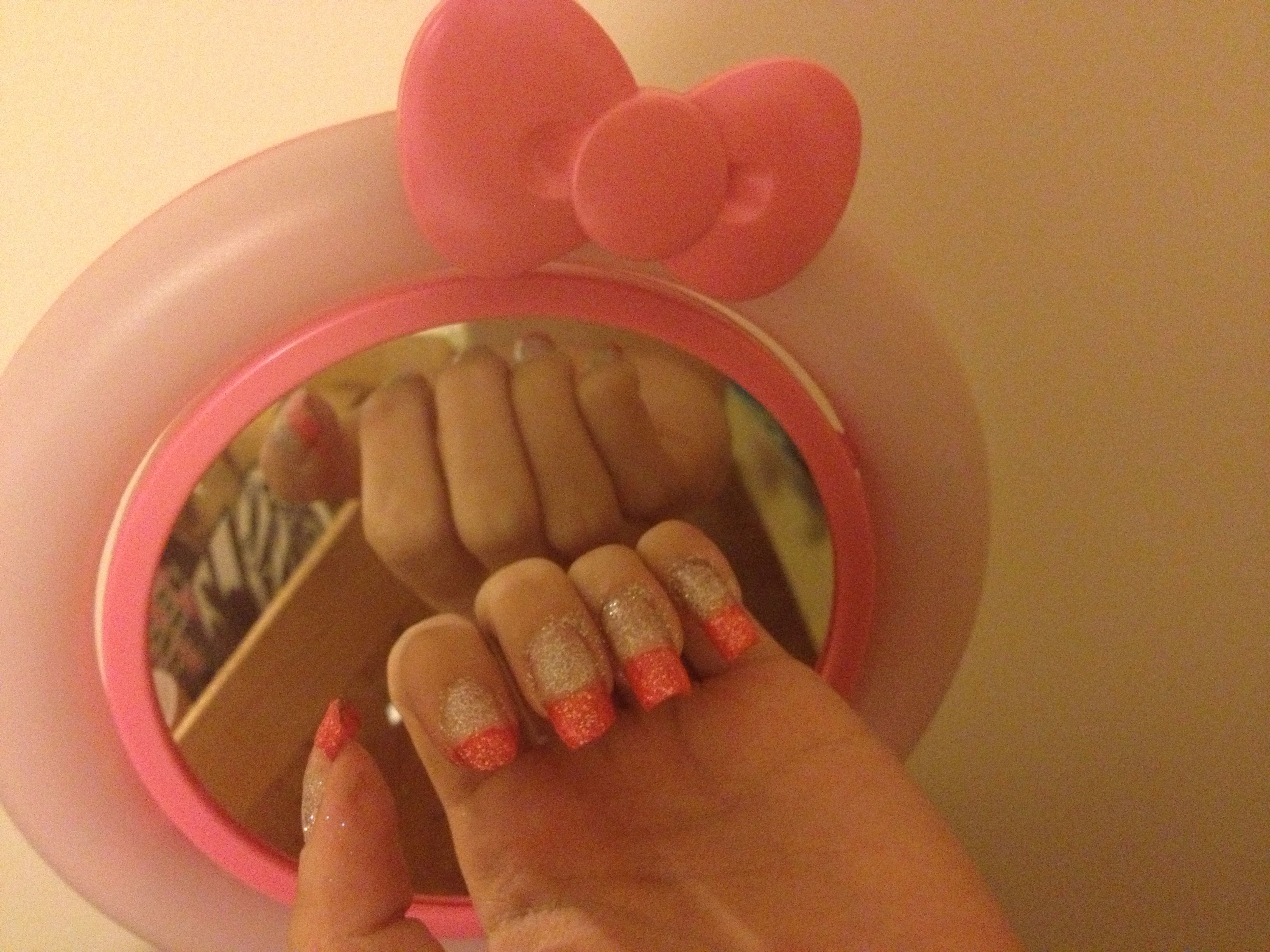 Girly pink hello kitty color inspired nails | Pink hello ...