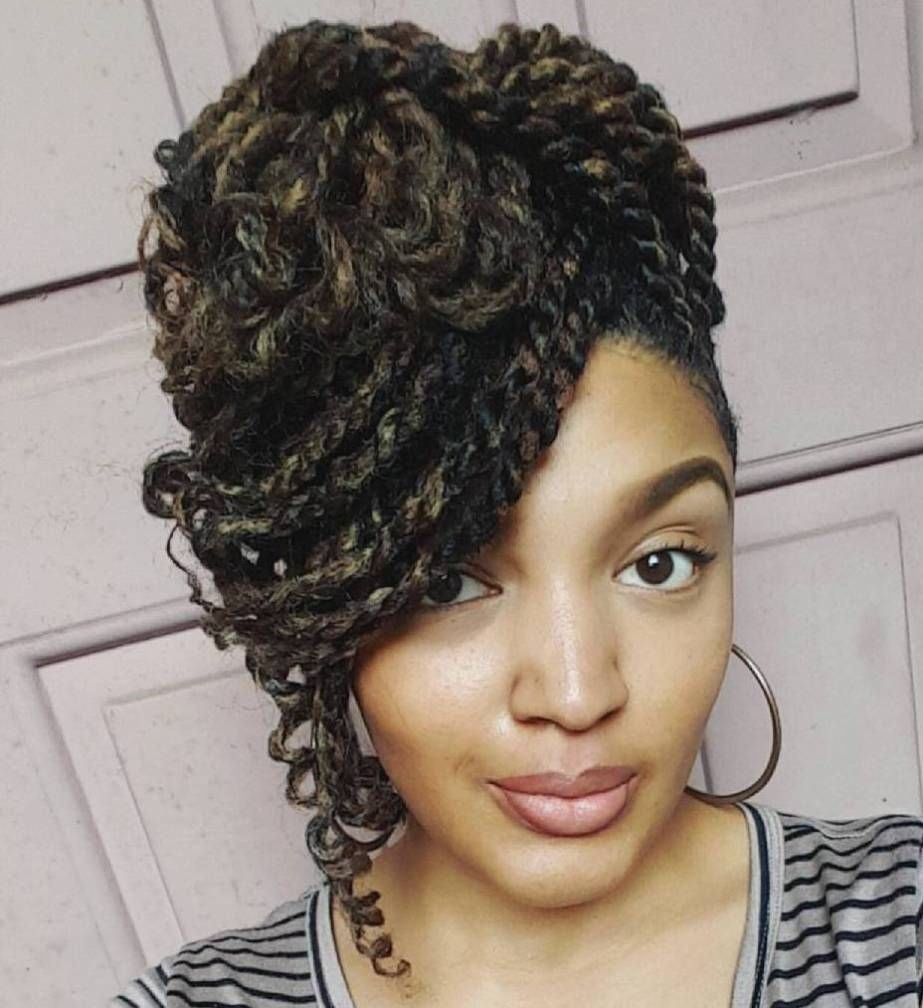 30 hot kinky twists hairstyles to try in 2018 | side bangs, updo and