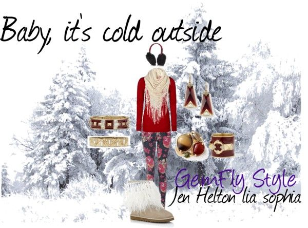 """Baby, it's cold outside"" by gemflystyle on Polyvore"