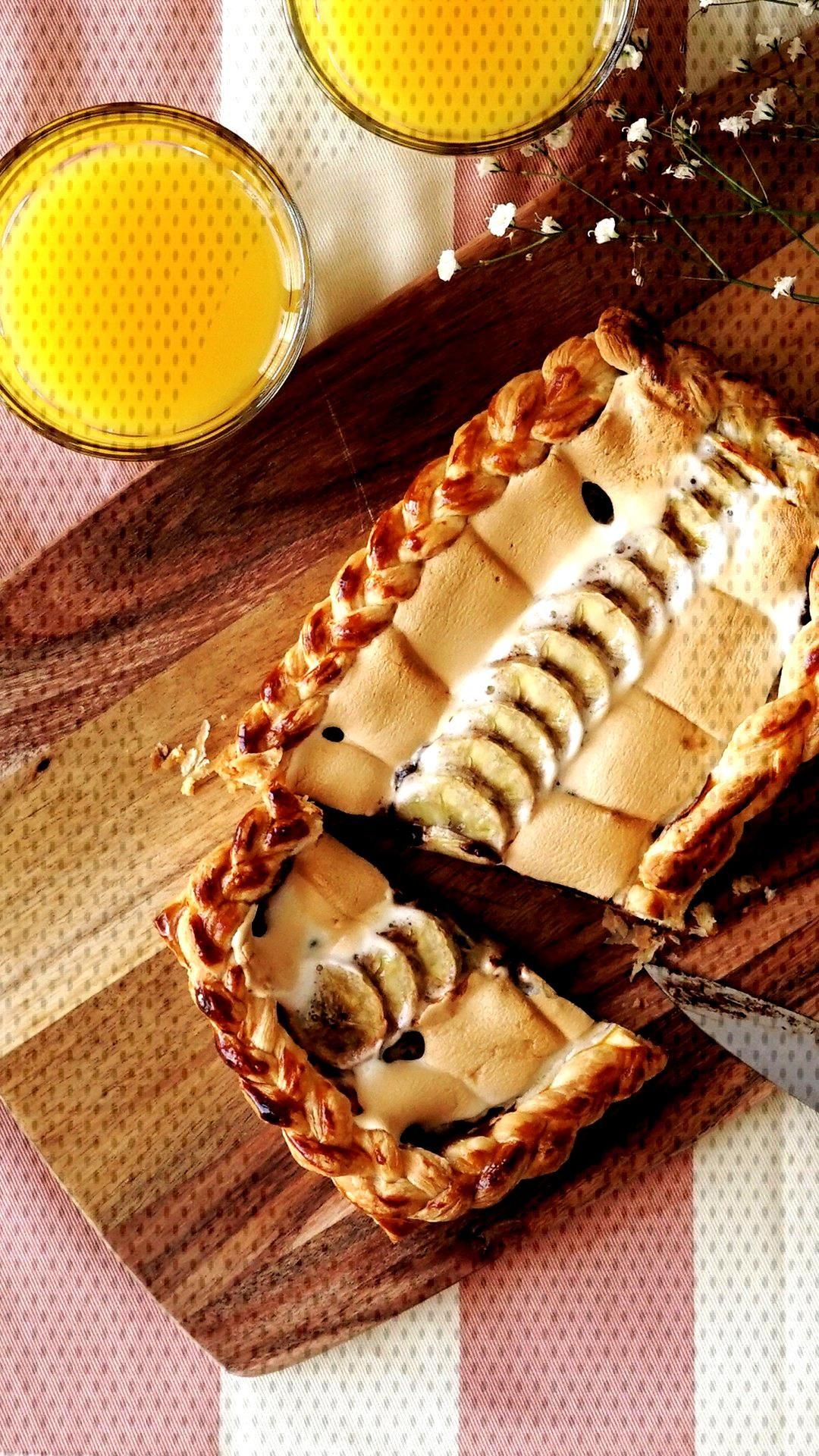 Banana Chocolate Pies -