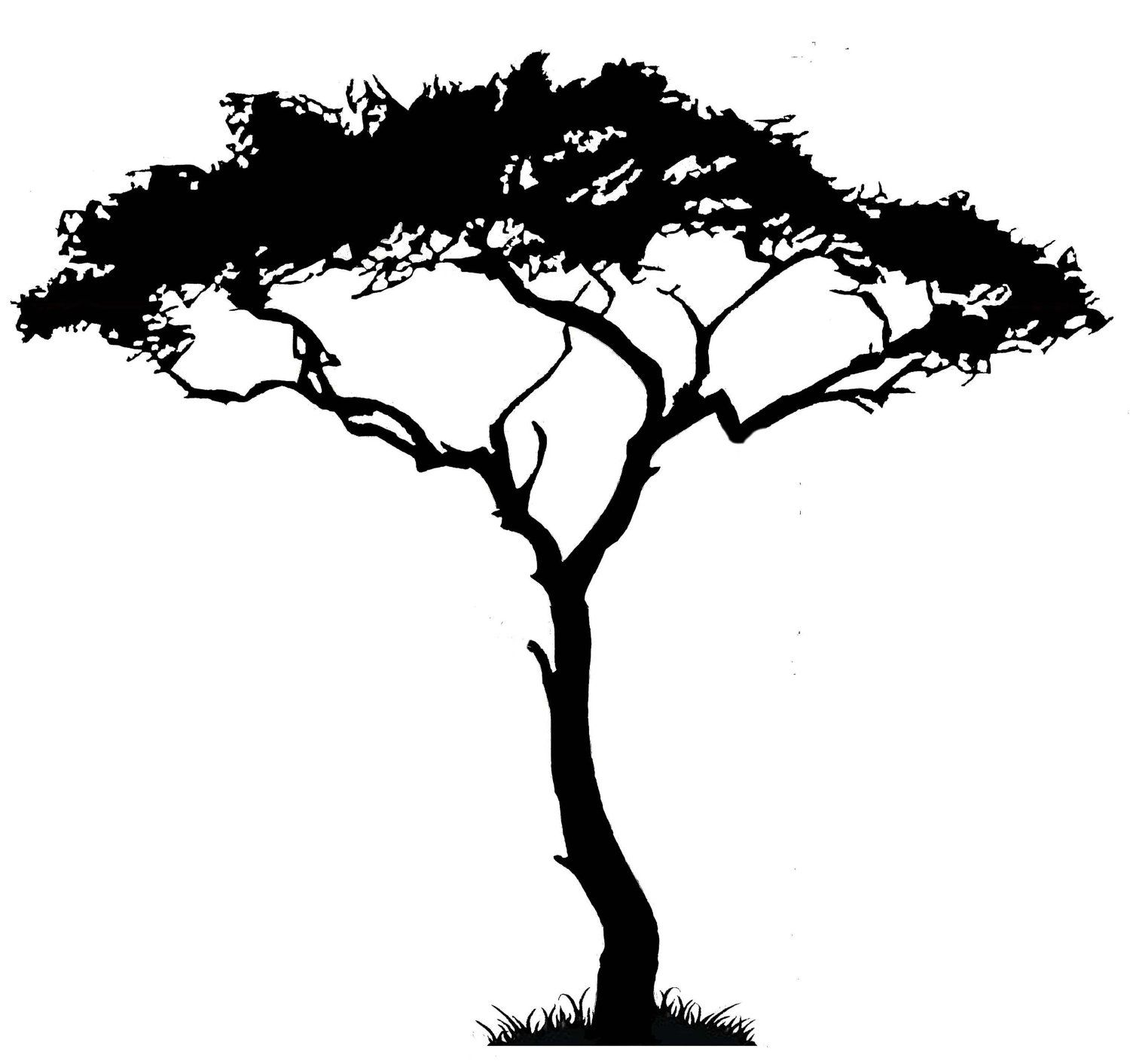 Removable Wall Mural African Tree Wall Decal Vinyl Decor Art Sticker