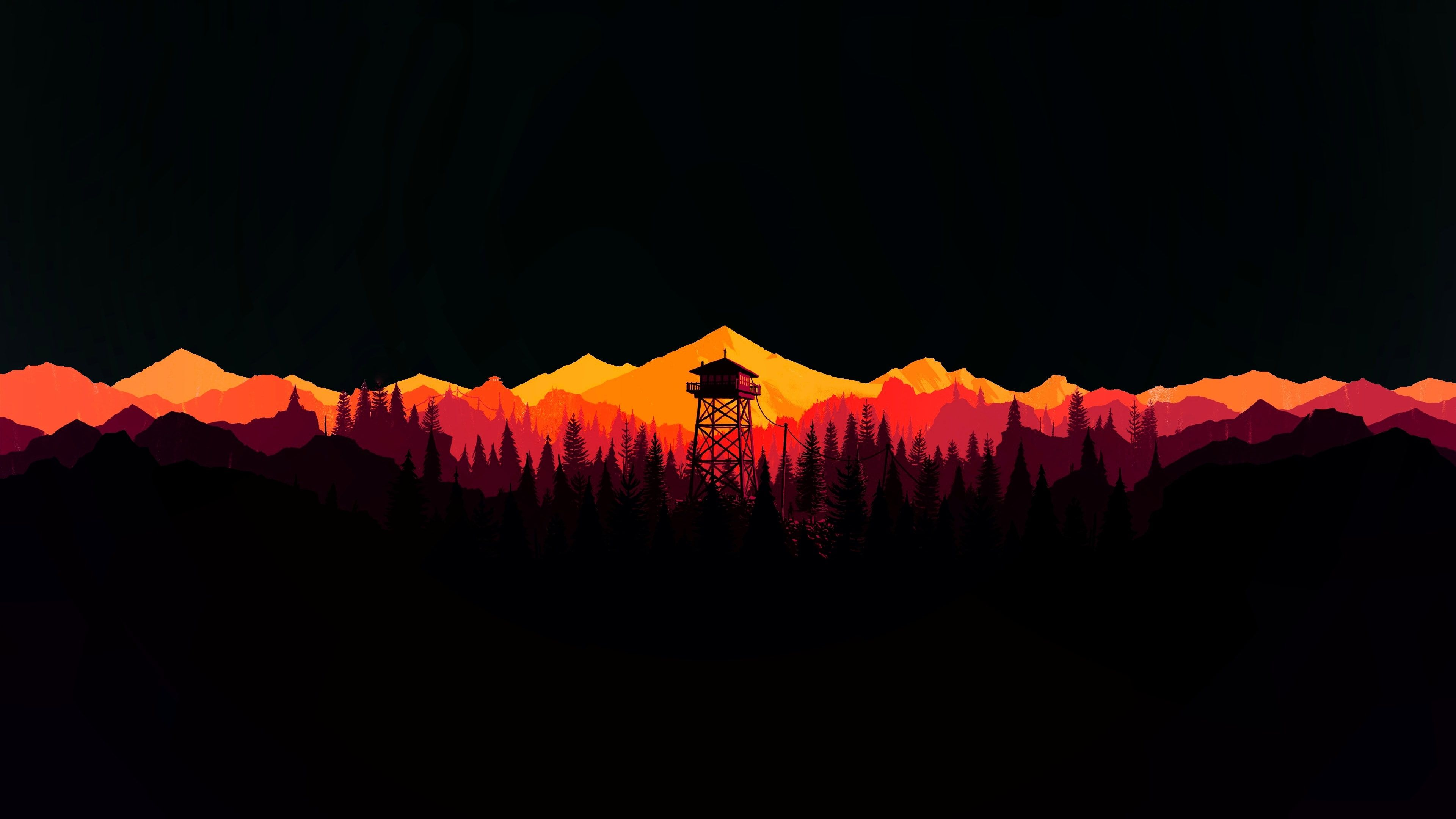 Watchtower In Oled Style 4k Wallpaper Hdwallpaper Desktop Computer Wallpaper Desktop Wallpapers Dual Screen Wallpaper Iphone Homescreen Wallpaper