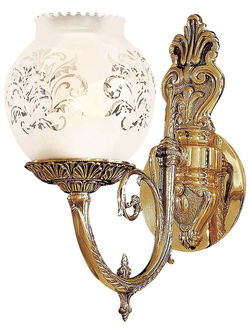 Victorian Lighting English Victorian Sconce With Etched