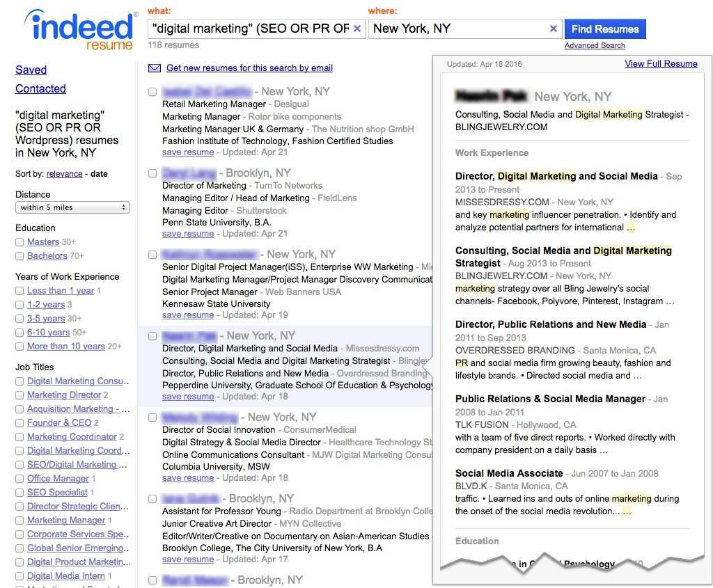 Cool Free Resumes Search Websites Contemporary Resume