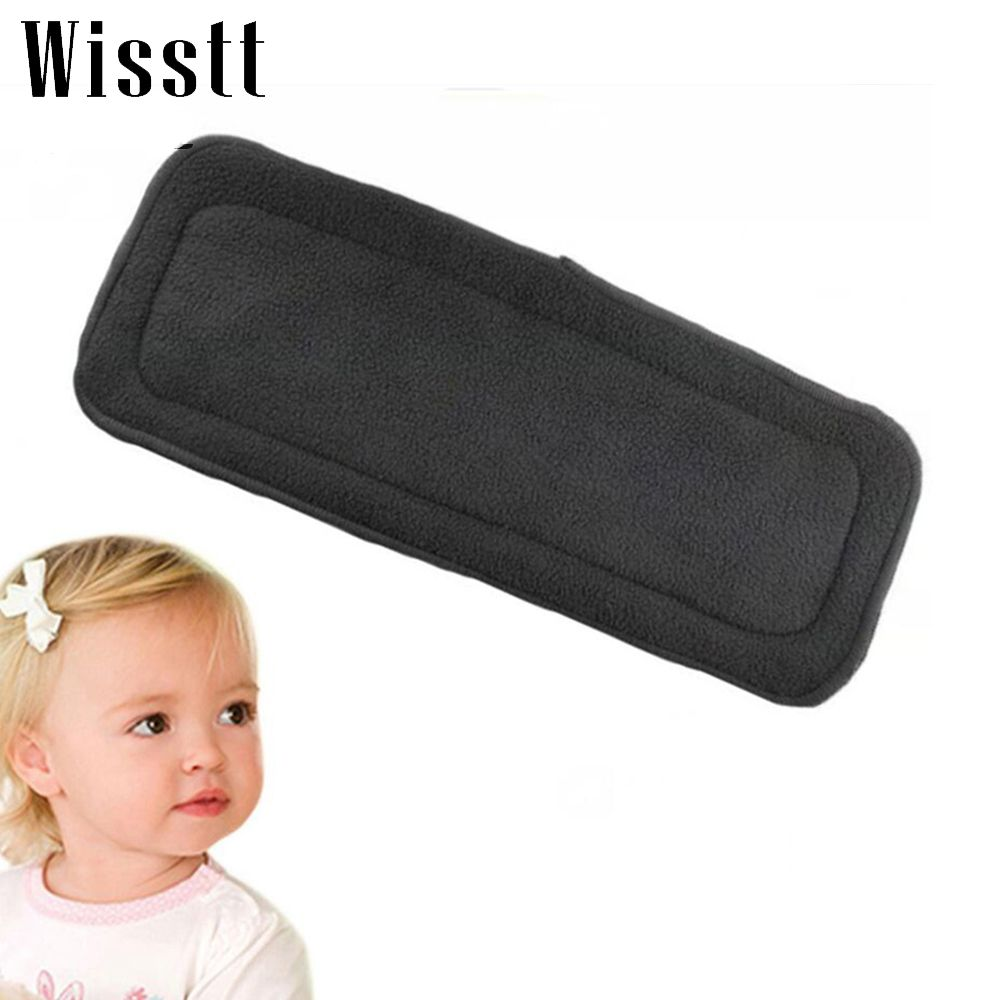 4 Layers Soft Reusable Newborn Baby Bamboo Charcoal Cotton Liners Cloth Diape LD