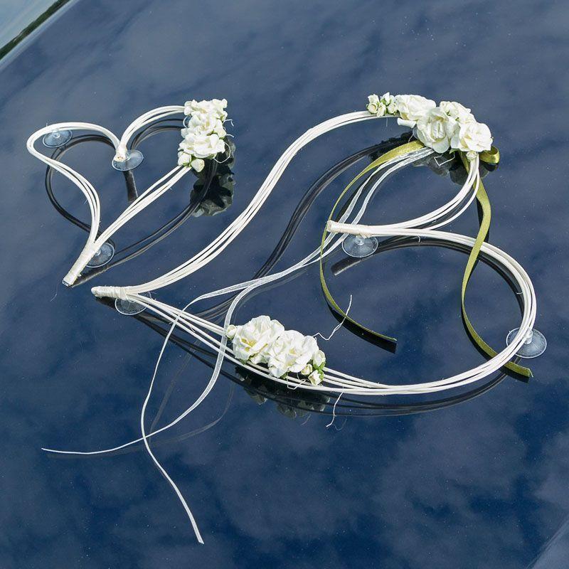 Autoschmuck Vintage Herzen  Autoschmuck Hochzeit  Autoschmuck hochzeit Deco hochzeit und