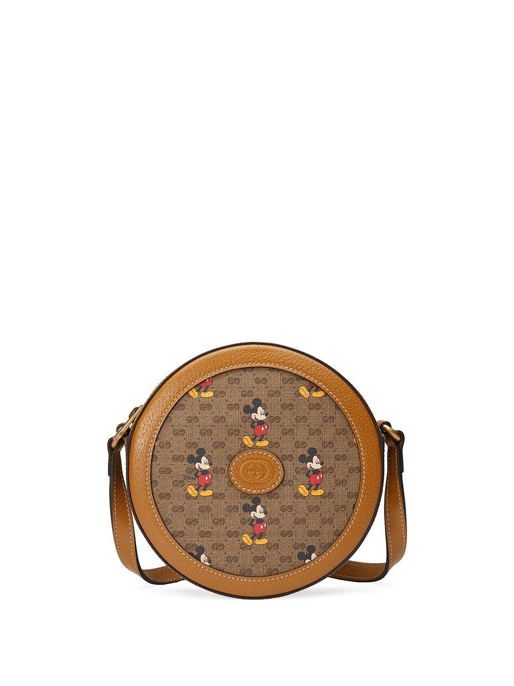 Gucci X Disney Mickey Mouse Print Shoulder Bag Farfetch In 2020 Mickey Mouse Bag Disney Purse Mouse Print