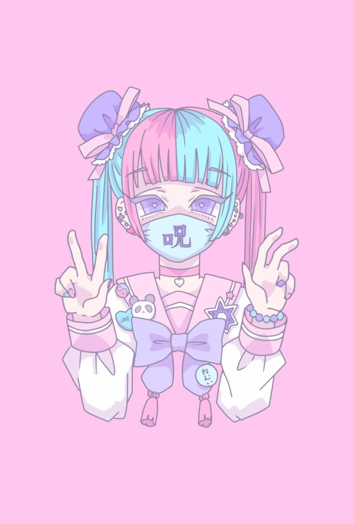 Anime Pastel Anime Art Girl Pastel Goth Art Anime Drawings