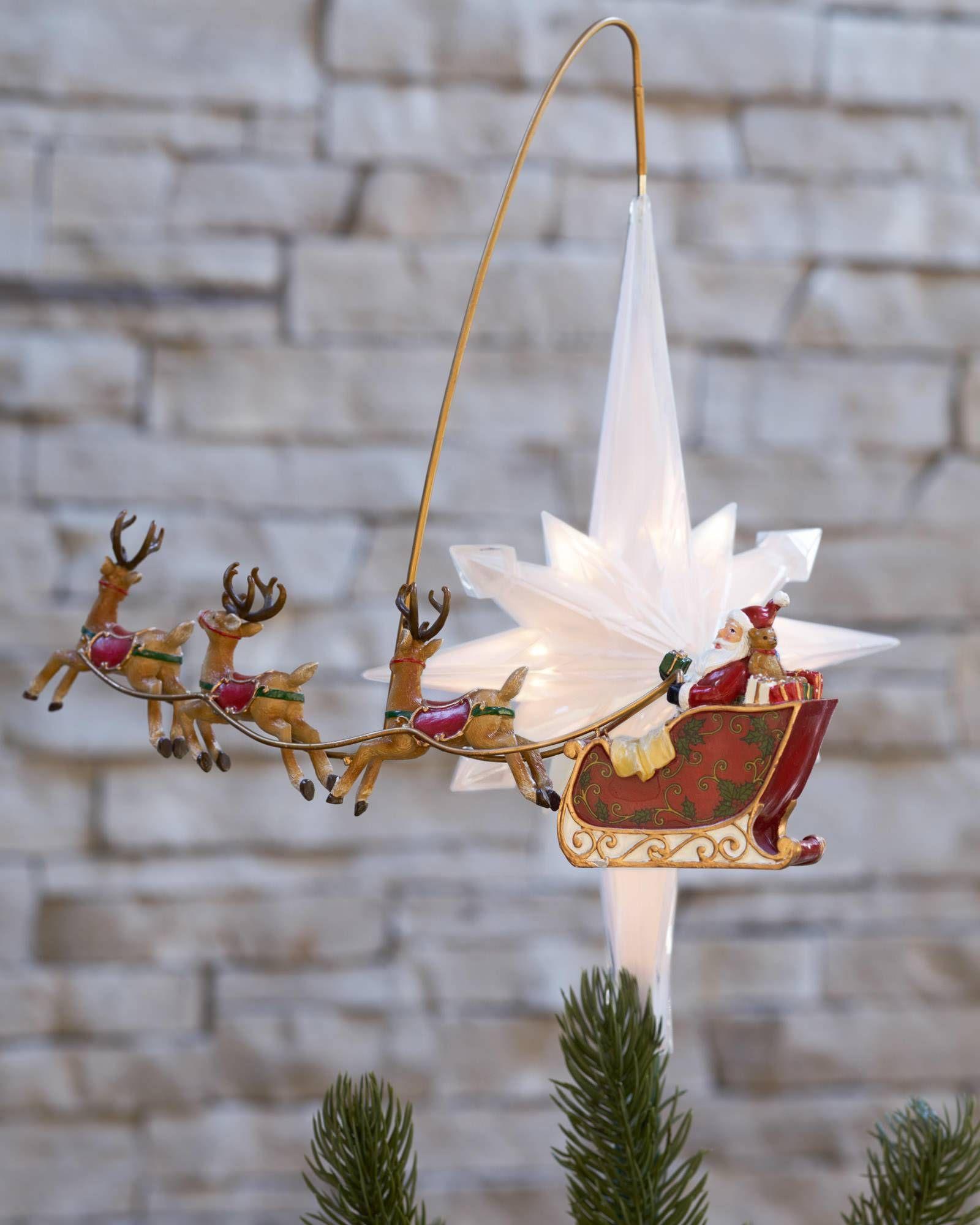 Thomas Kinkade Illuminated Animated Santa Claus Tree Topper Tree Toppers Christmas Tree Toppers Thomas Kinkade Christmas