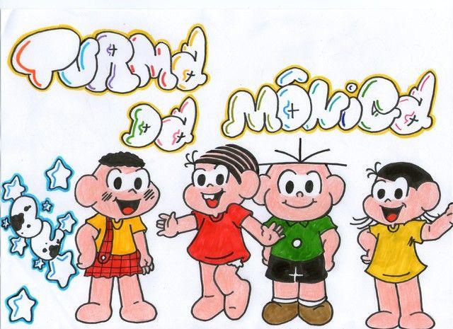 Turma Da Monica Com Imagens Caricatura Caricaturas Desenhos