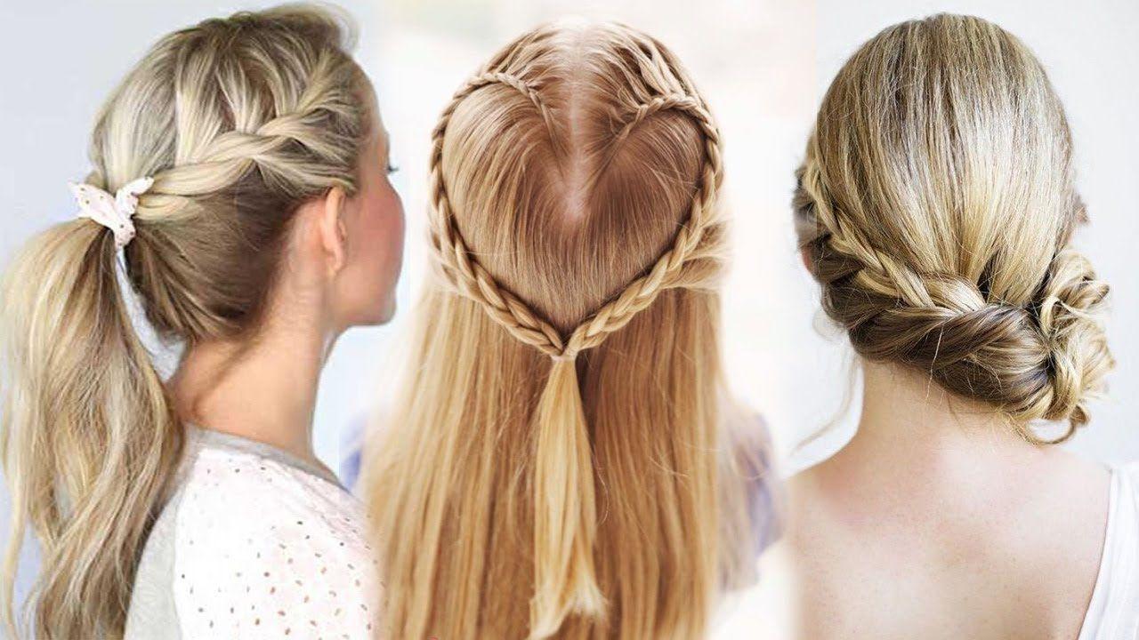 تسريحات شعر للمدرسة 2017 ج 63 أحدث تسريحات للشعر الطويل تسريحات للشعر Short Hair Styles Hair Food Hair Styles