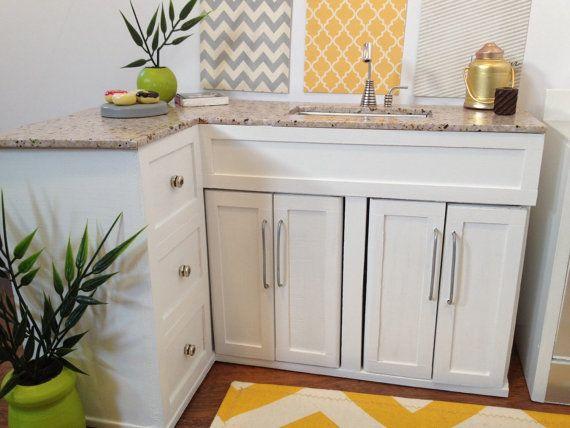 Gabinetes de cocina de esquina en forma de L y fregadero | Casa de ...