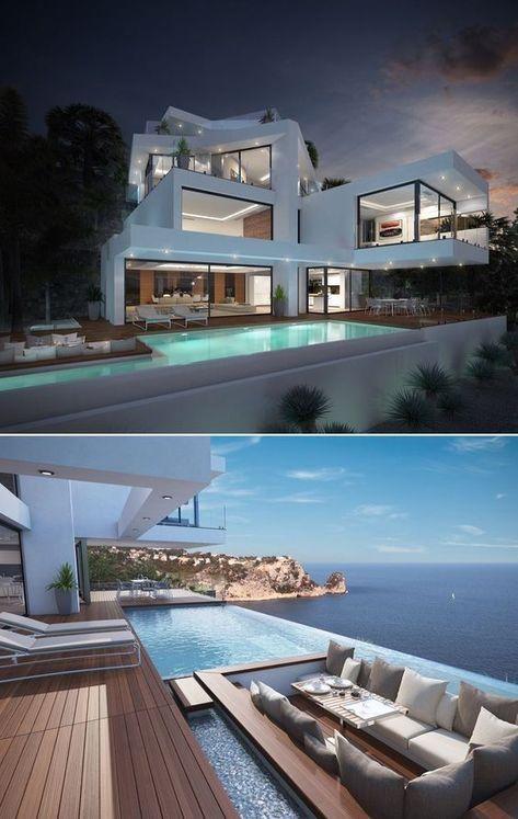 61 Easy Pool House Decorating Ideas Modern Mimari Modern Ev Tasarimi Mimari Tasarim