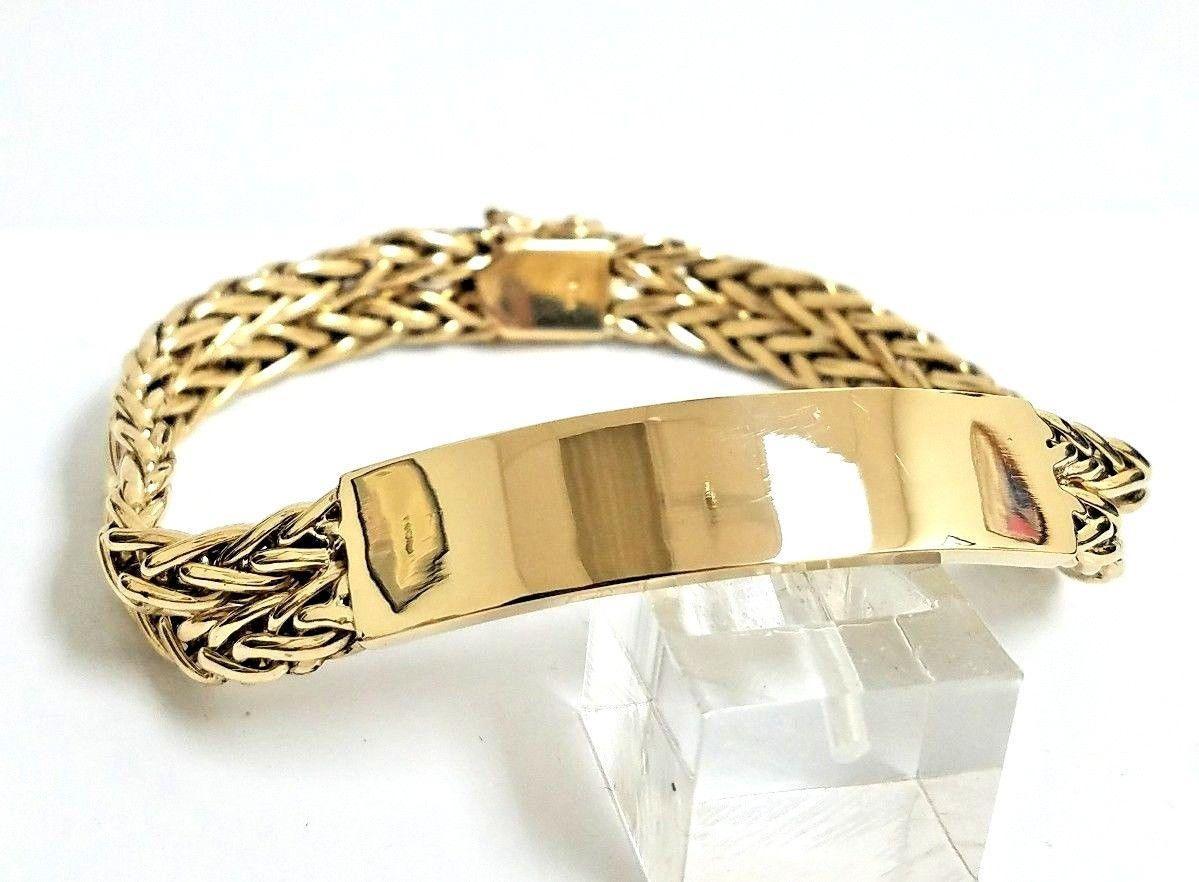 Stunning custom handmade solid karat yellow gold mm unisex