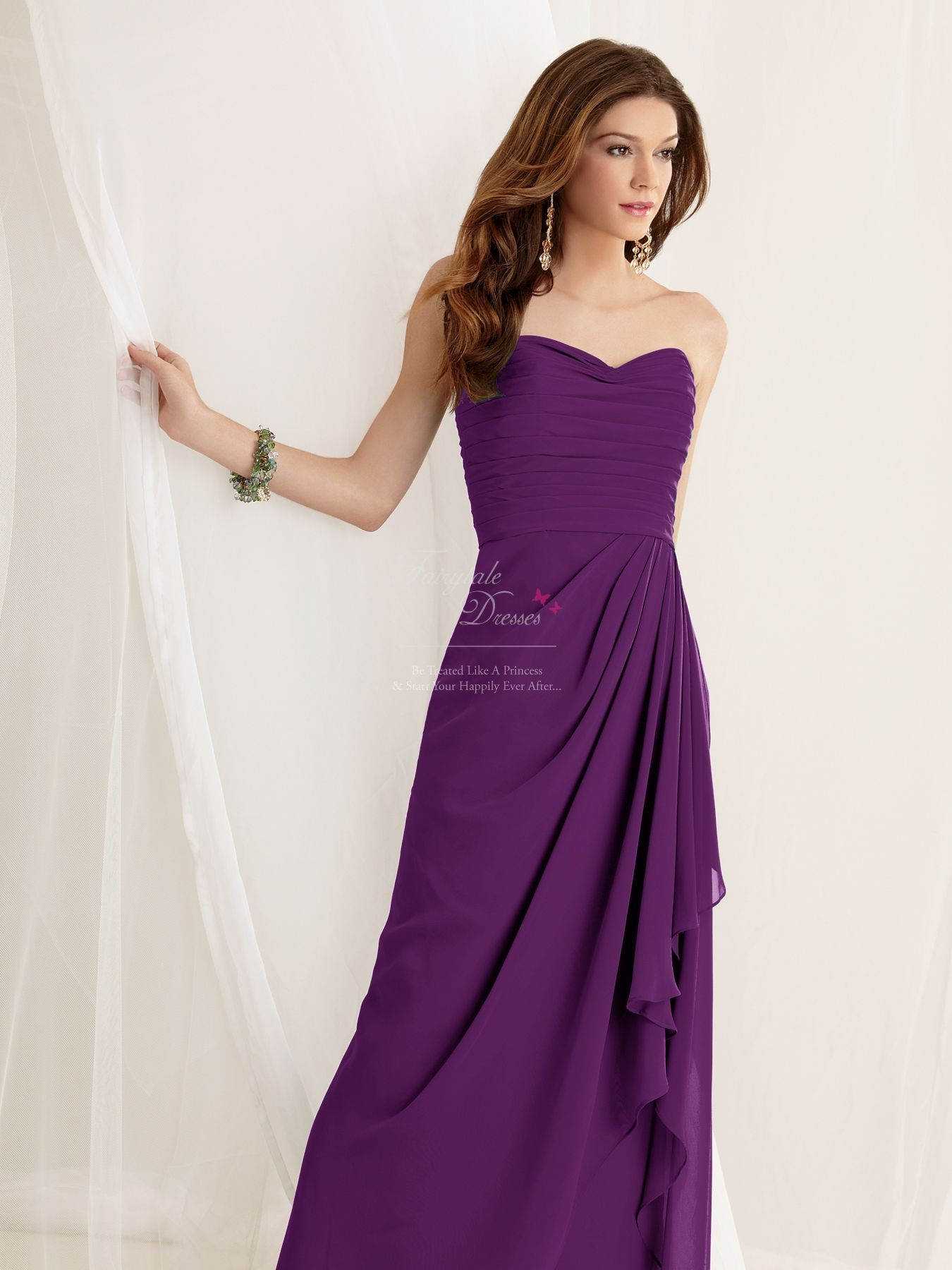 Dark Purple Bridesmaid Dresses 12024 | Purple Bridemaid Dresses UK ...