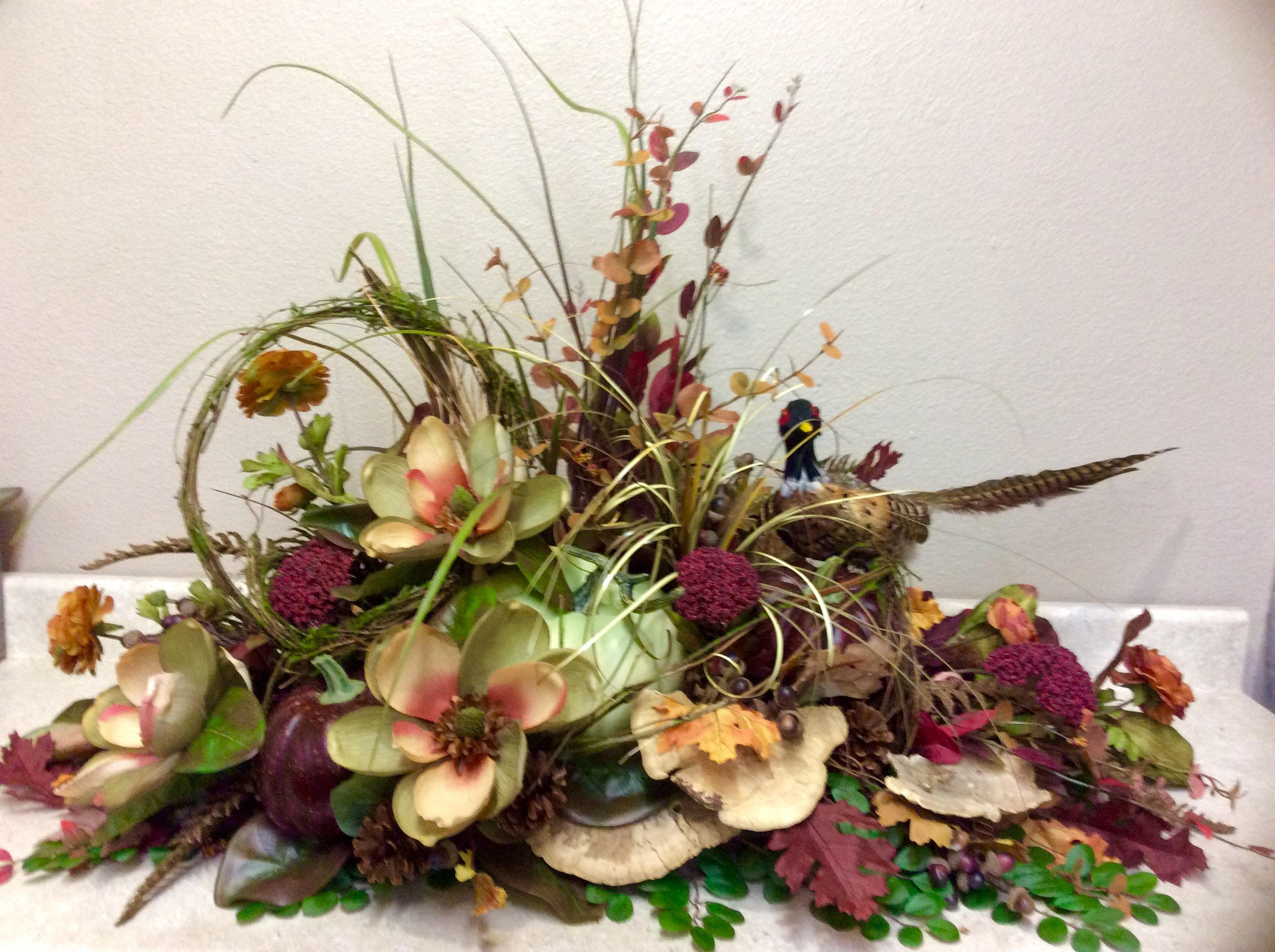 Fall Silk Floral Arrangements Fall Magnolias Floral Fall Halloween Floral