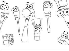 Disney Junior Drucken Und Ausmalen Meister Mannys Werkzeugkiste