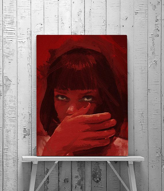 Pulp Fiction Pulp Fiction Poster Mia Wallace by Afterdarkness