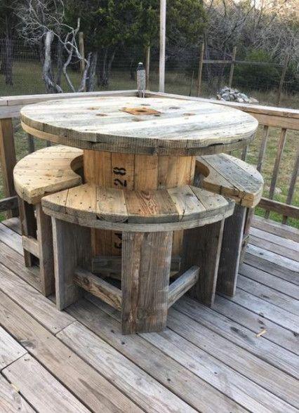 New Garden Pallet Table Furniture Ideas Ideas #cablespooltables