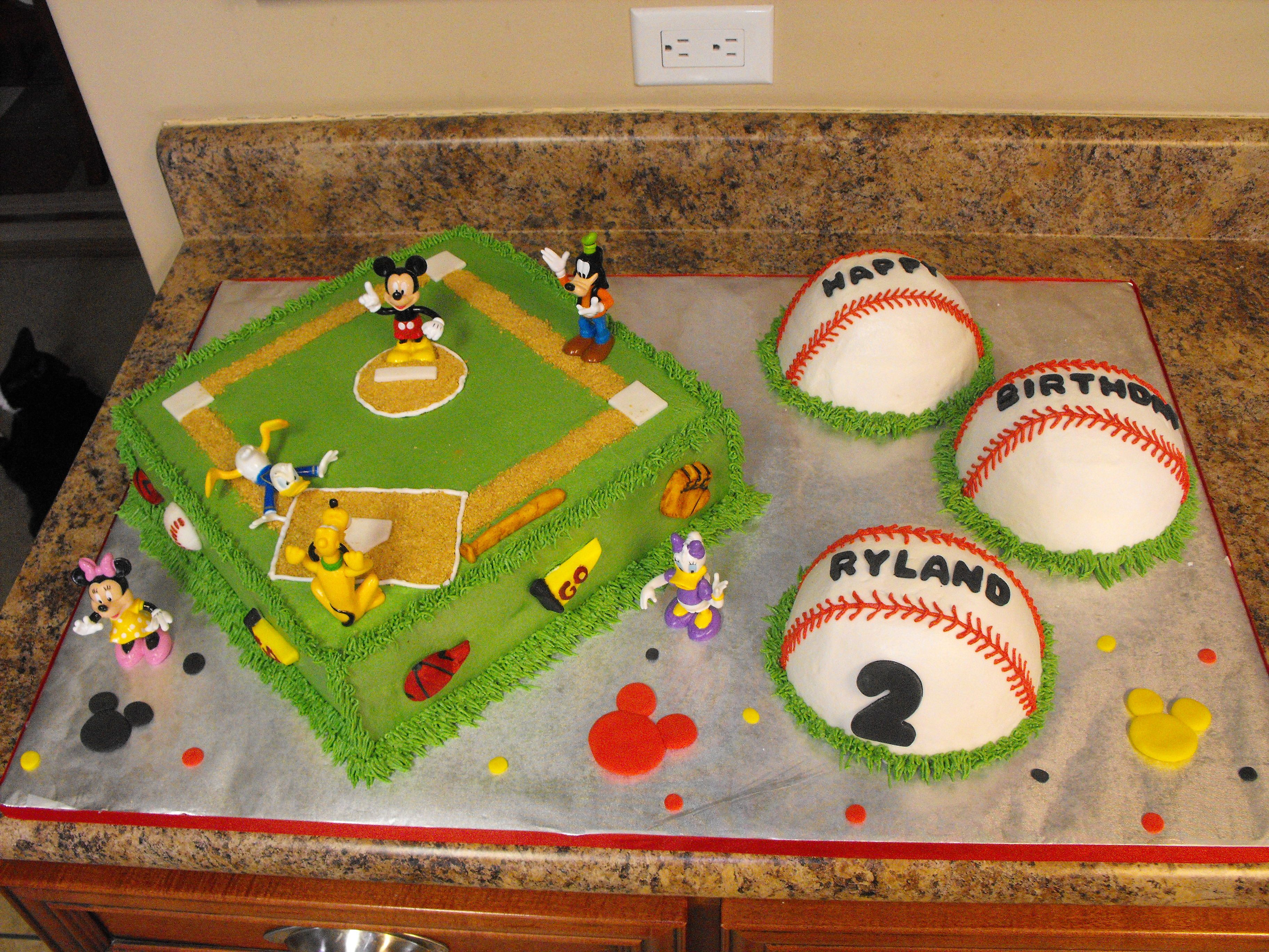 Baseball Mickey Cake
