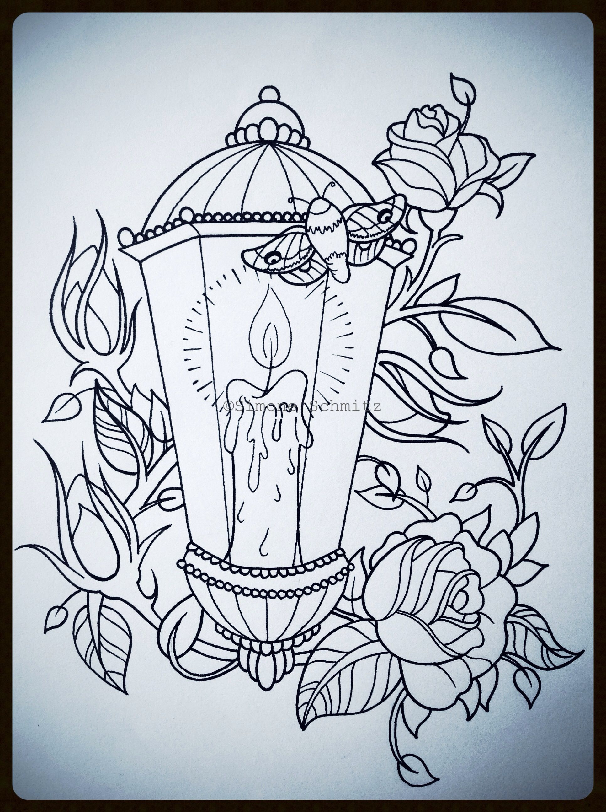 Pin Top Candle Lantern Tattoo Drawings Images For Pinterest