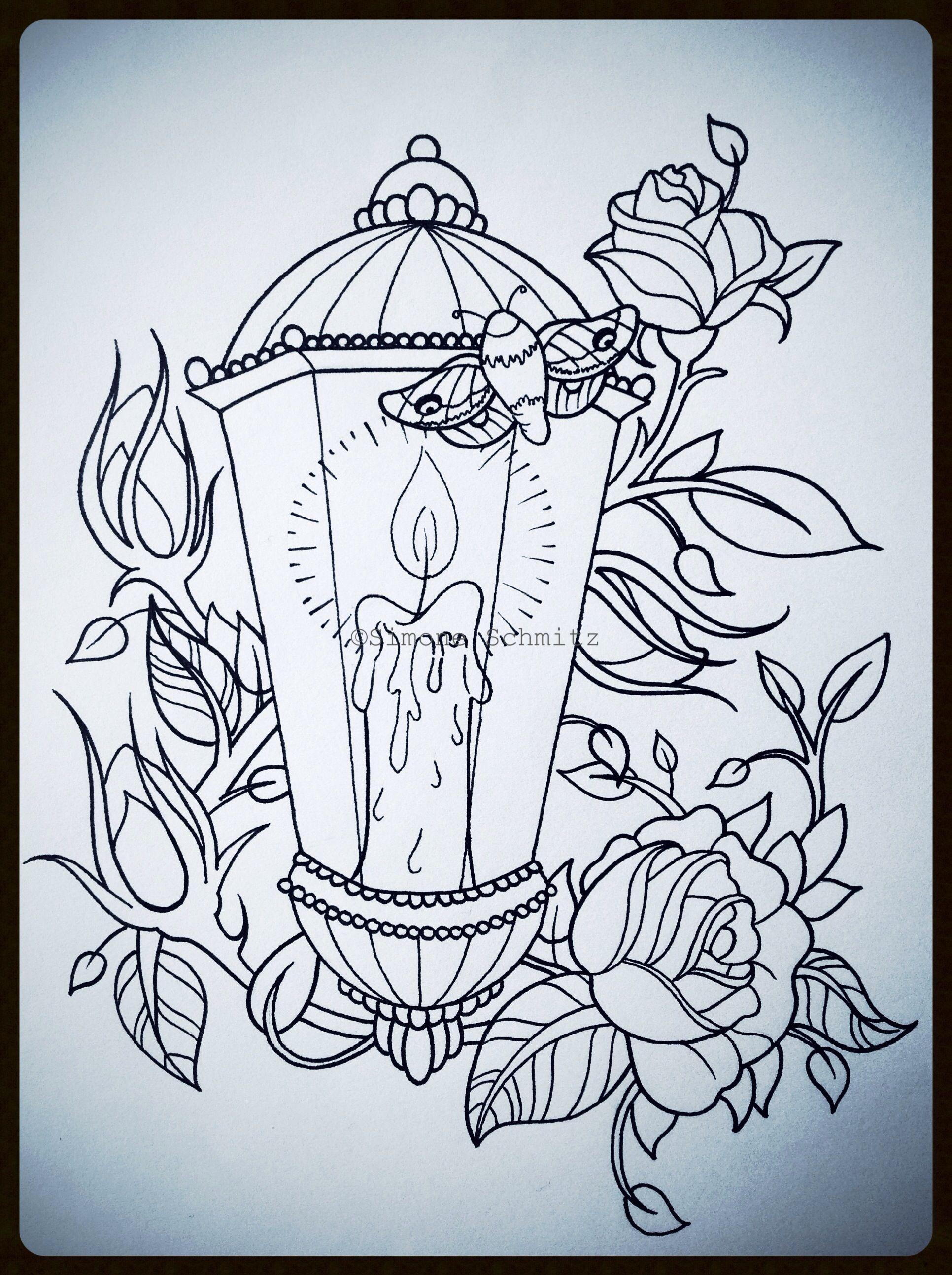 Lantern tattoodesign DRAWINGS Pinterest