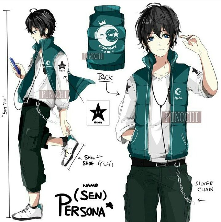 Anime Boy Character Design : Character design by instagram user pinochi kun anime