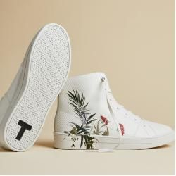 Photo of Highland Leather Hi-top Trainers Ted Baker