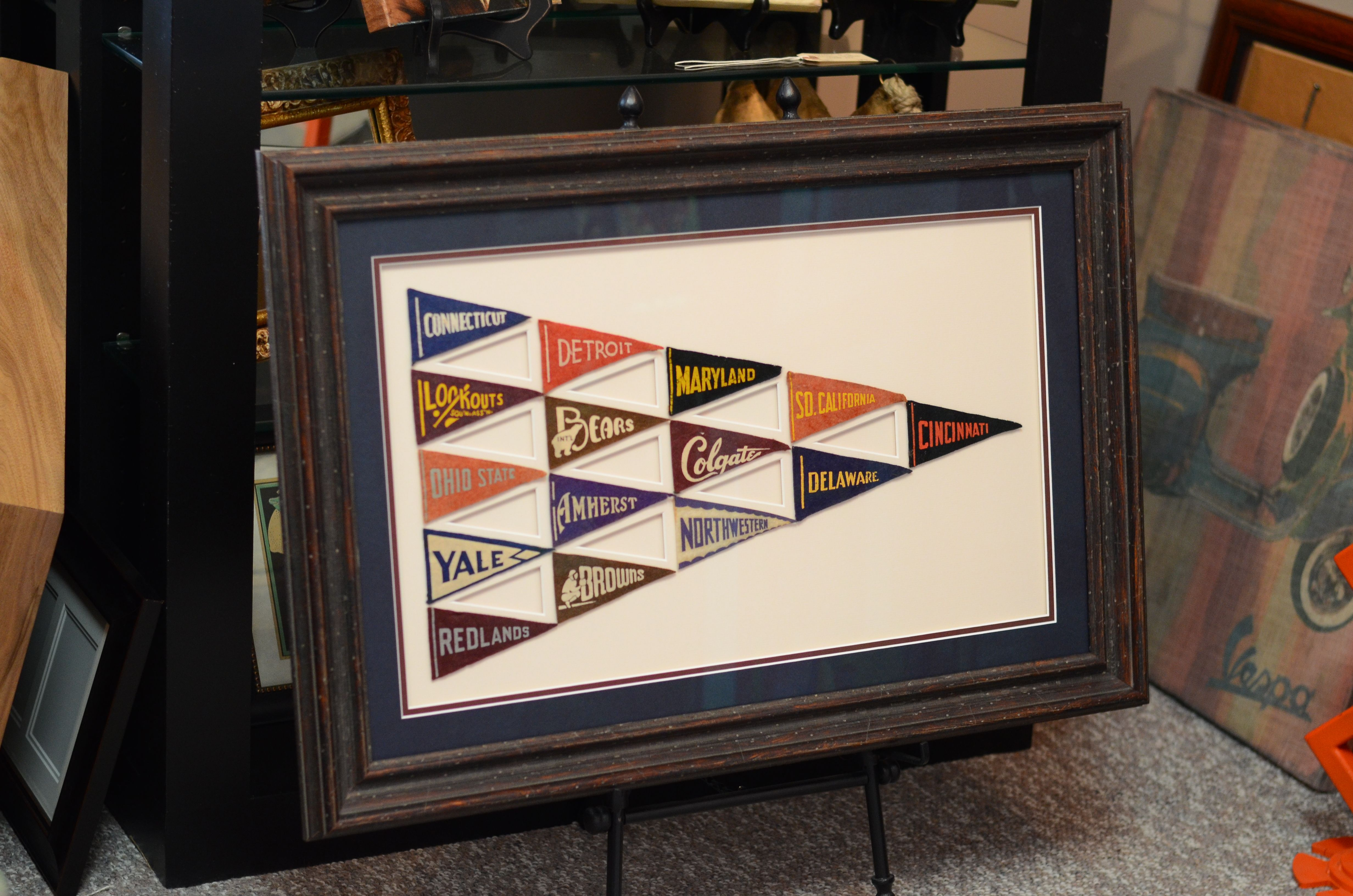 Mini felt pennants custom cmc cut mat and framed at centerville custom cmc cut mat and framed at centerville framing and gifts jeuxipadfo Choice Image