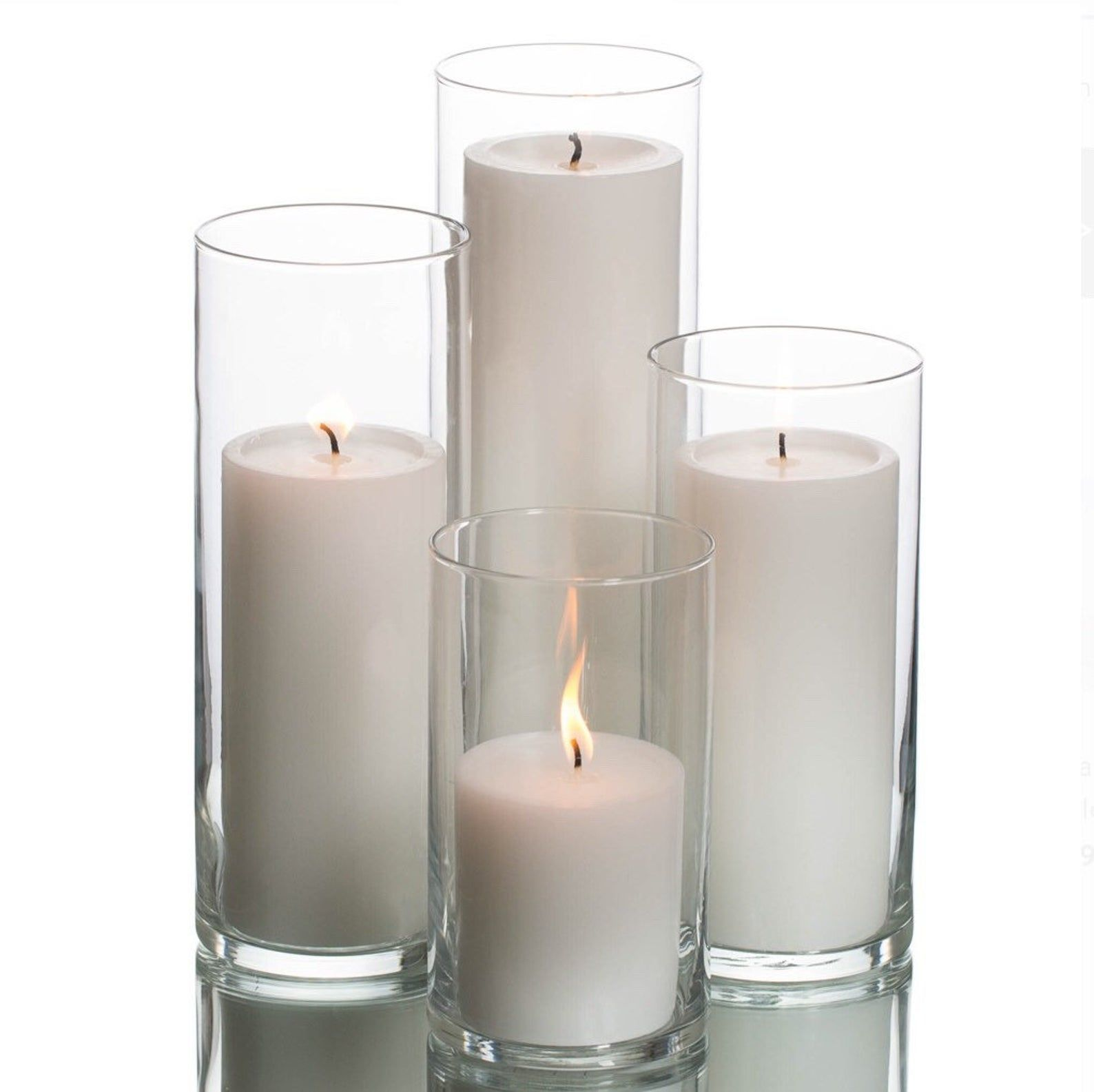 6 Clear Cylinder Vasesglass Cylinder Vaseswedding Etsy In 2020 Glass Pillar Candle Pillar Candle Centerpieces Pillar Candles