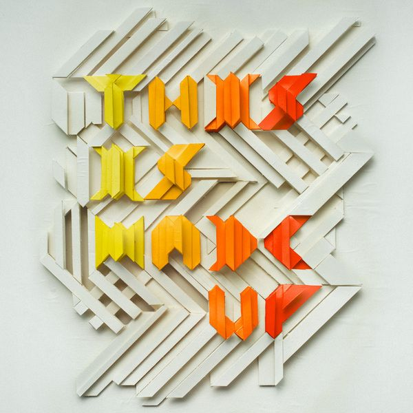 By Charles Williams What Looks To Initially Be Foam Core Board Or A Similar Material Is Transformed Into Typography Inspiration Typographic Design Typography