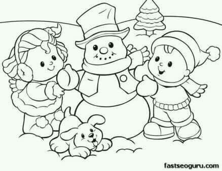 Haciendo muñeco de nieve | DIBUJOS CREATIVOS PARA COLOREAR ...