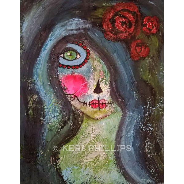 Dia de los Muertos Art Print, Day of the Dead Art, Sugar Skull Girl ...