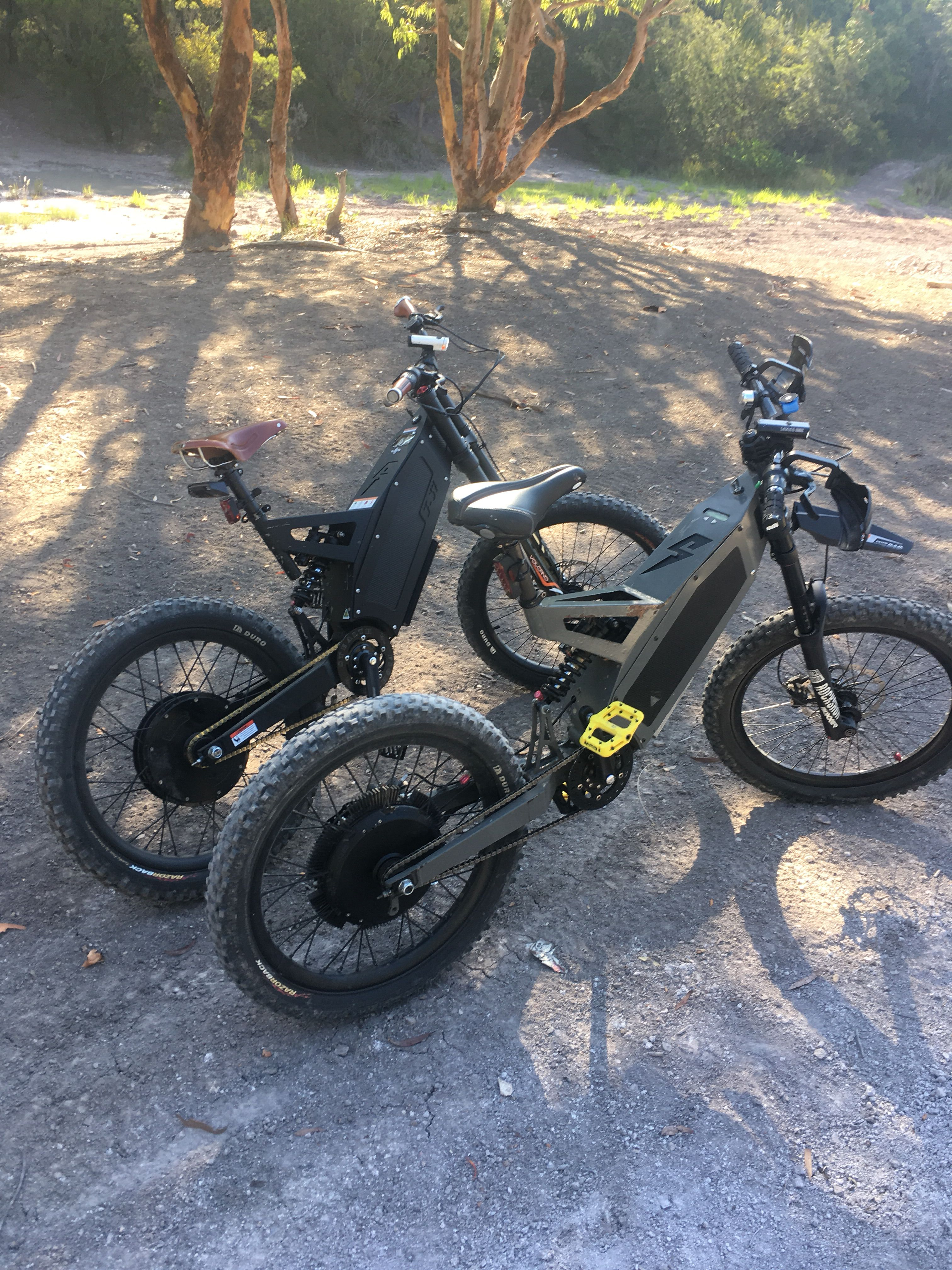 Fighters The New And The Old 3700 Watts Vs 8500 Watts Guess Which Ebike Bicycle Electric Bike