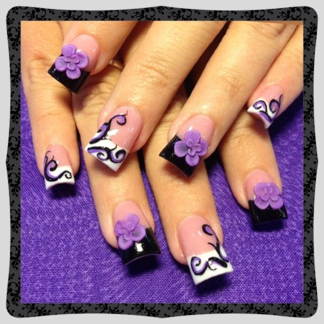3d Nail Salon Fancy Nails Spa Game For Girls To Make Cute: Purple Swirls - Nail Art Gallery
