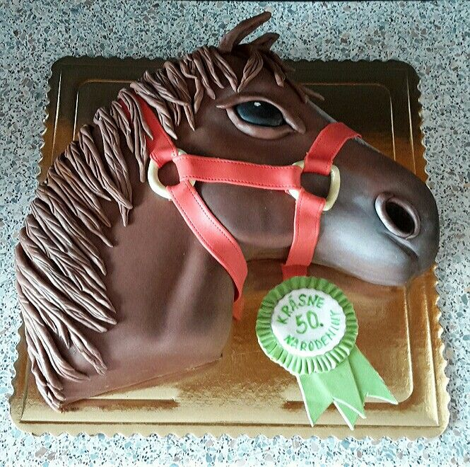50th birthday cake horse head MY CAKES Pinterest Birthday