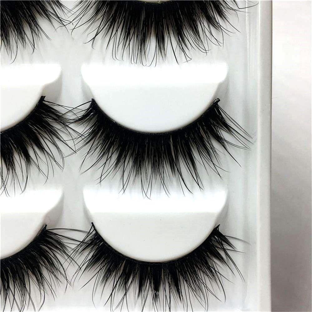 'Fiesty' 5 Pair 3D False Eyelashes Makeup eyelashes
