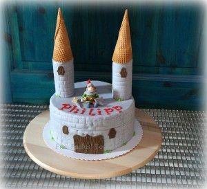 Torte Ritter Burg Anleitung Fondant Cake Knight S Castle Tutorial