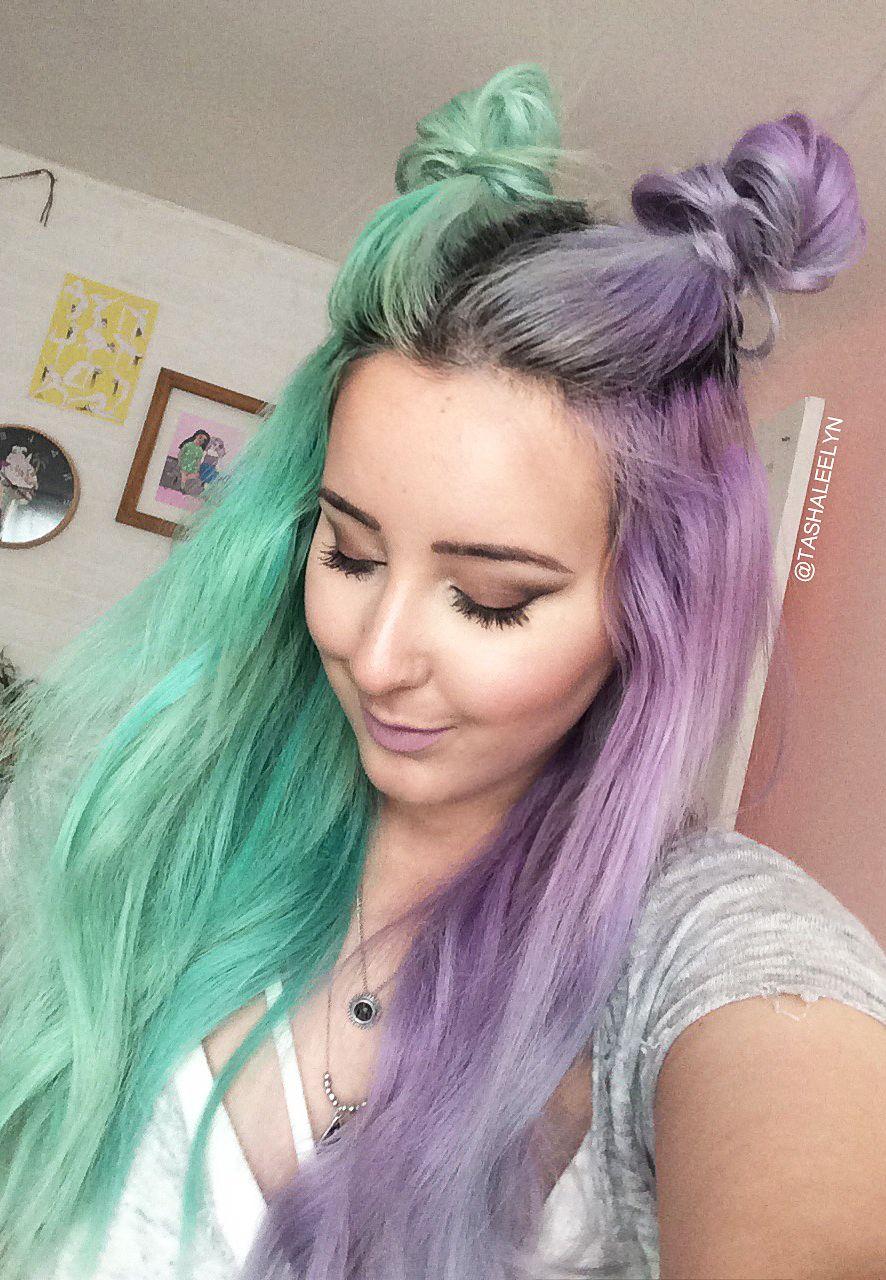 Instagram Tashaleelyn Pastel Half Half Hair Hair