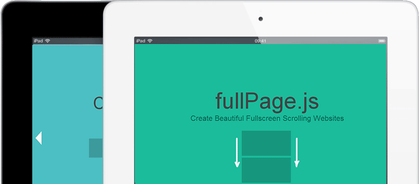 FullPage JS is a simple library to create beautiful fullscreen